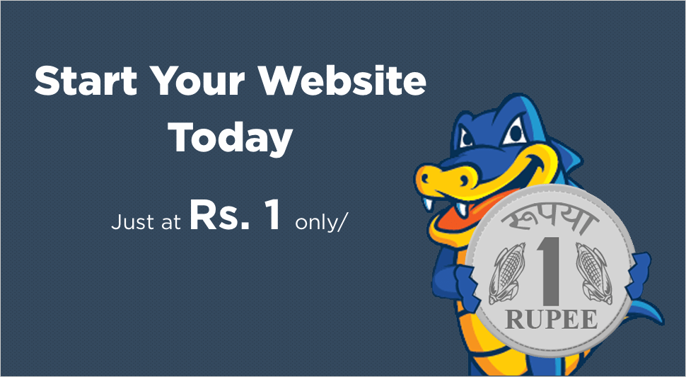 Hostgator 1 Rs. web hosting