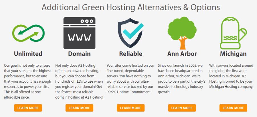 A2 Green Web Hosting